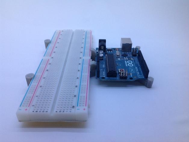 Arduino Uno and breadboard holder