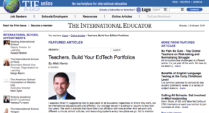 Teachers, Build Your EdTech Portfolios - TIEOnline