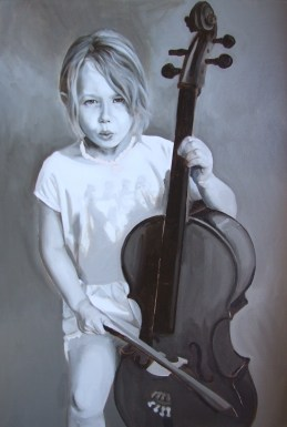 Florence grisaille, oil on canvas board