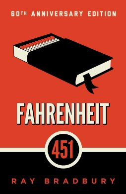 Cover to Fahrenheit 451 60th anniversary edition.