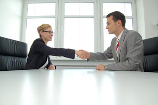 get the job interview right handshake