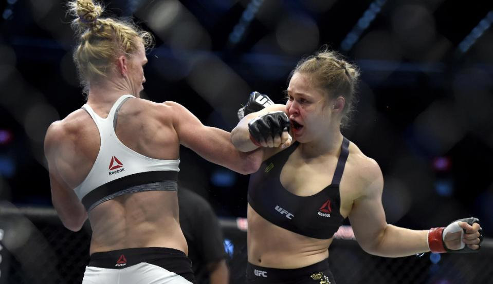 Ronda Rousey Holly Holm Challenger Brands