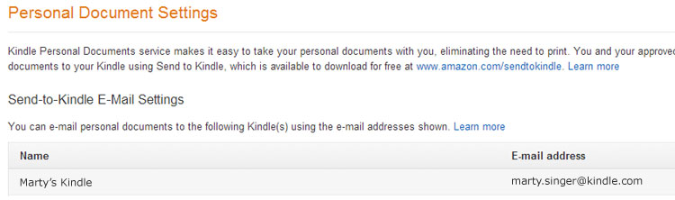 How to get a book file onto your Kindle