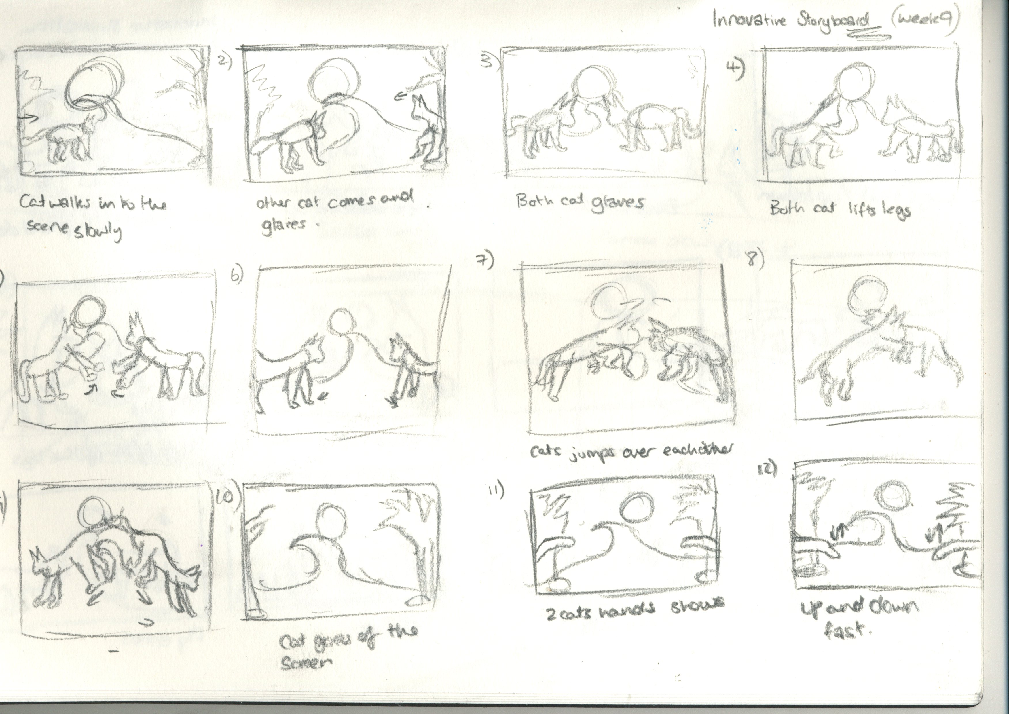 Innovative Animation Week 8: Storyboard and Production