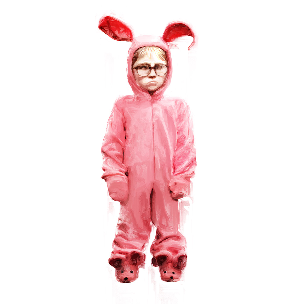 """Ralph in his bunny suit from """"A Christmas Story"""""""