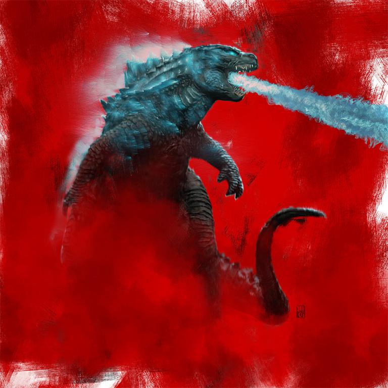 Full Godzilla illustration