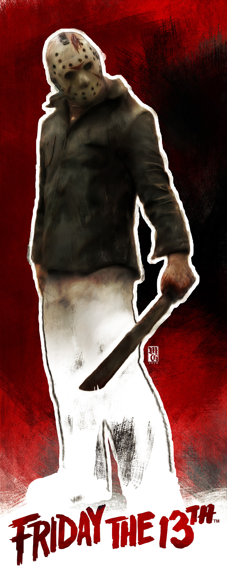 """Sketch of Jason Voorhees from """"Friday the 13th"""" movie series"""