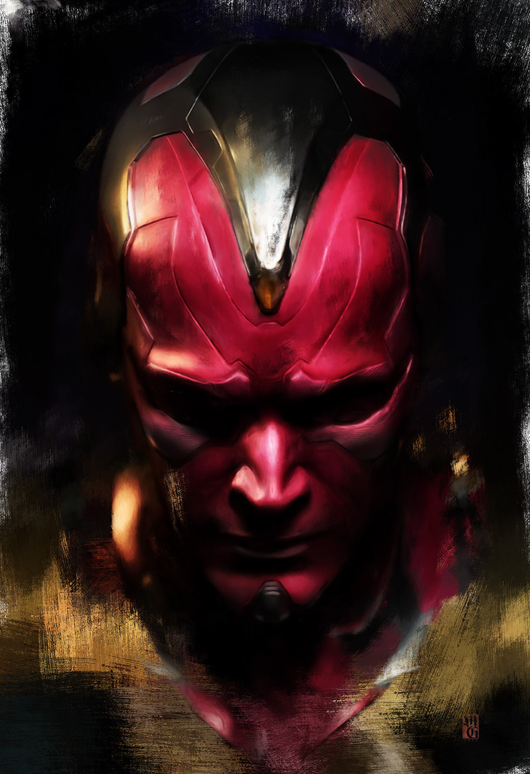 Portrait of Vision, from the Marvel Cinematic Universe