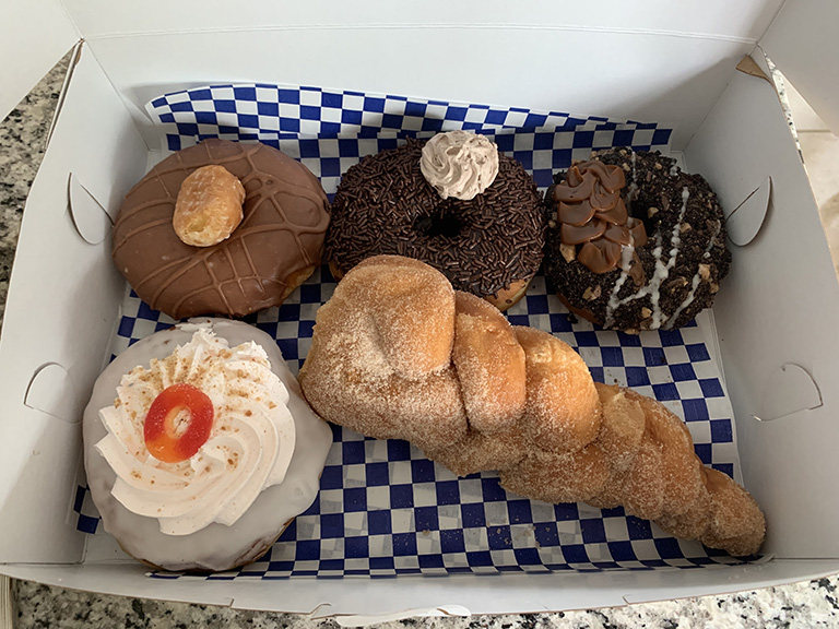 DG Donuts selection