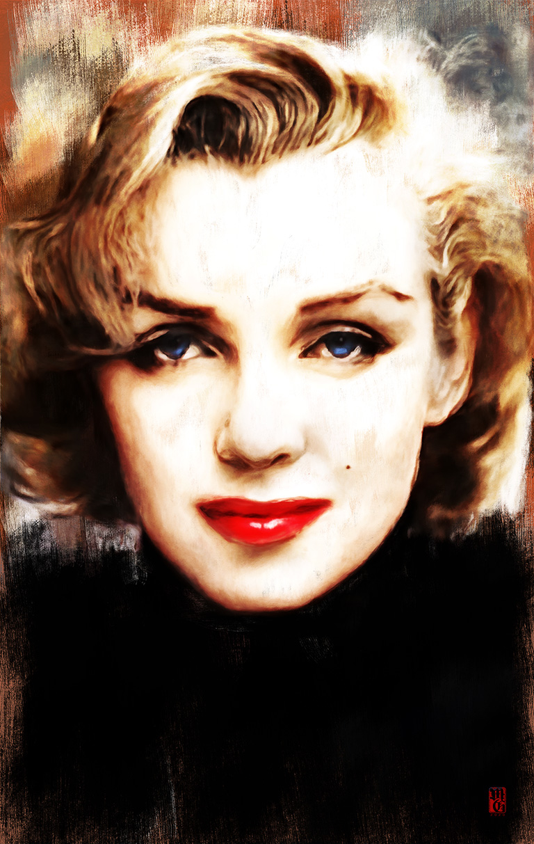 Sketch of Norma Jean Baker, more commonly known as Marilyn Monroe