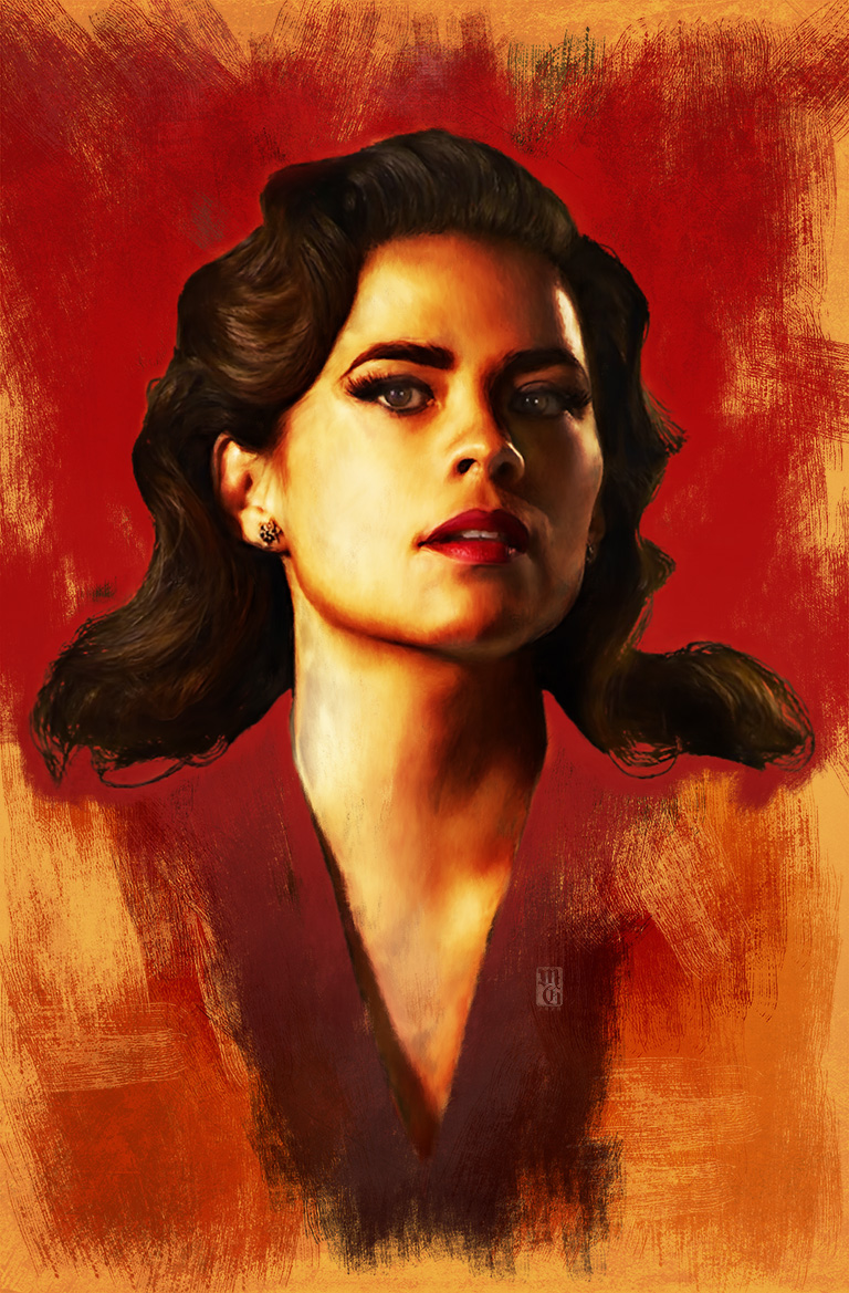 Hayley Atwell as Agent Peggy Carter from the Marvel Cinematic Universe