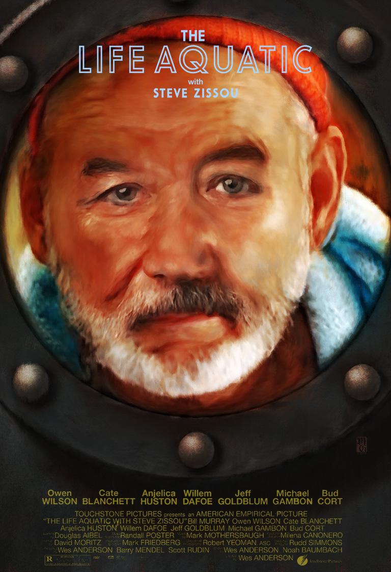 "Alternate movie poster for ""The Life Aquatic"""