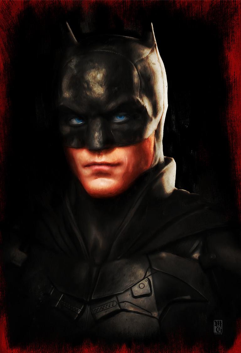 Portrait of Robert Pattinson as Batman