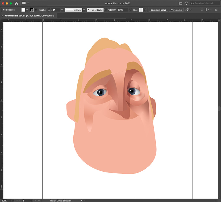Bob Parr in Adobe Illustrator