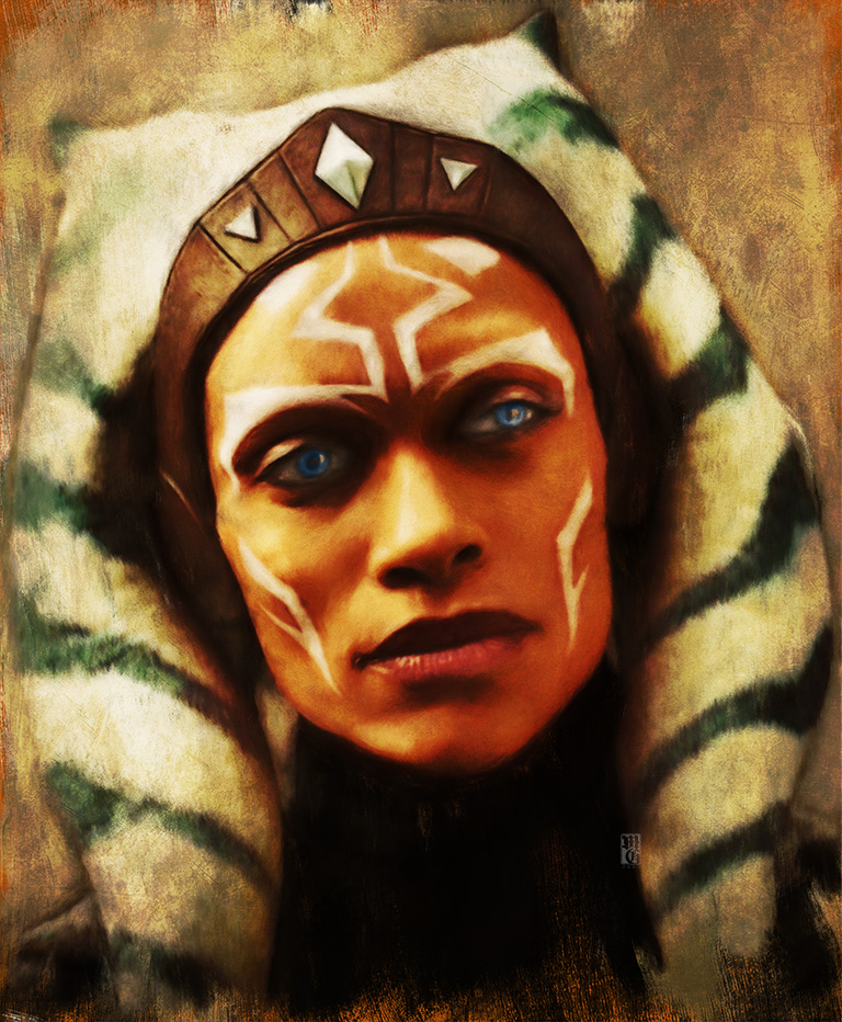 Portrait of Rosario Dawson as Ahsoka Tano