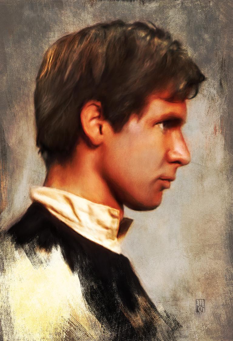 Portrait of Harrison Ford as Han Solo