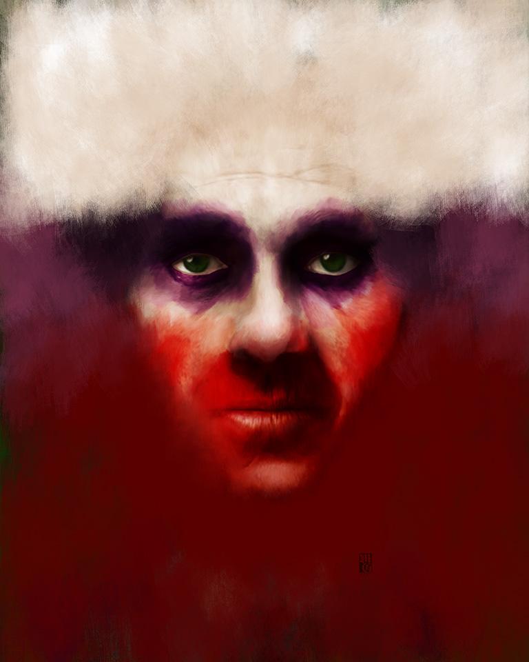 Conceptual portrait of Jack Napier, the Joker