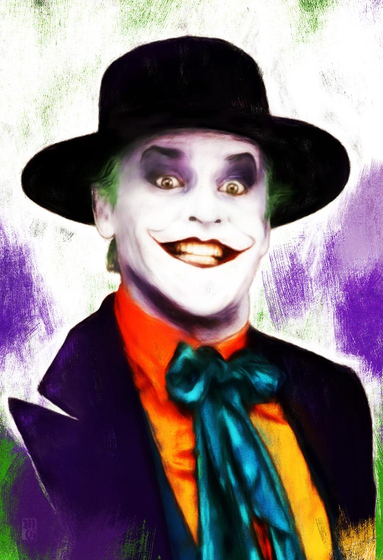Sketch portrait of Jack Nicholson as the Joker