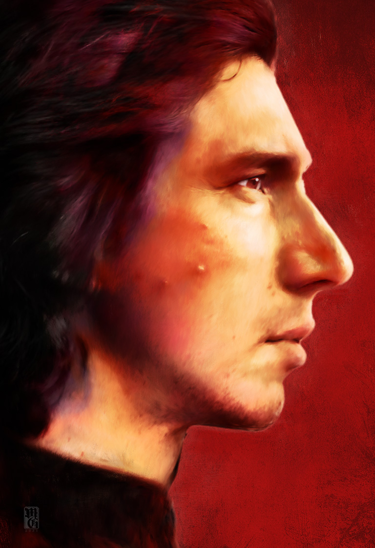 Alt-fan poster of Ben Solo (Kylo Ren) from the Star Wars universe