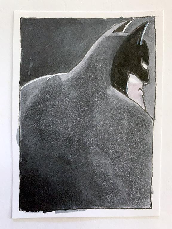 Batman sketch card A for week 6 of #Baturday
