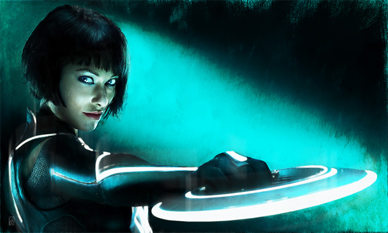 Portrait of Quorra from Tron Legacy