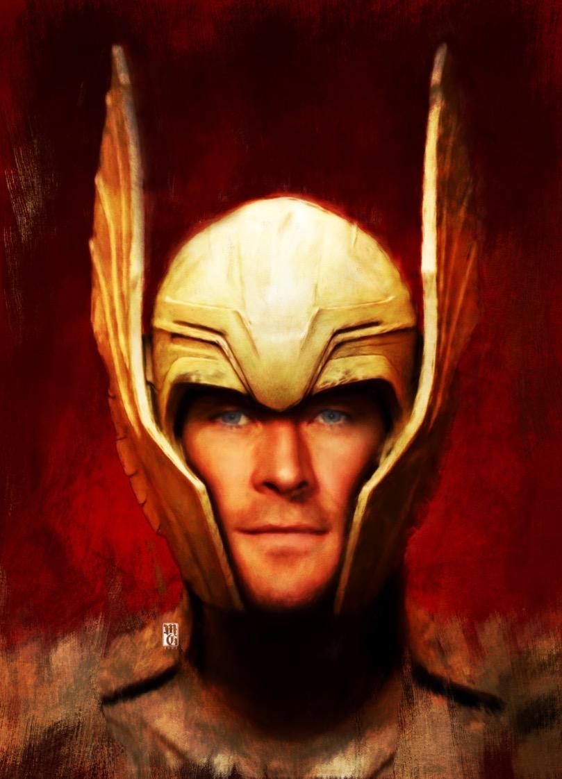 Portrait of Chris Hemsworth as Thor
