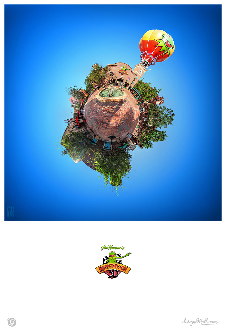 MuppetVision in 3-D tiny planet in the Disney Hollywood Studios.