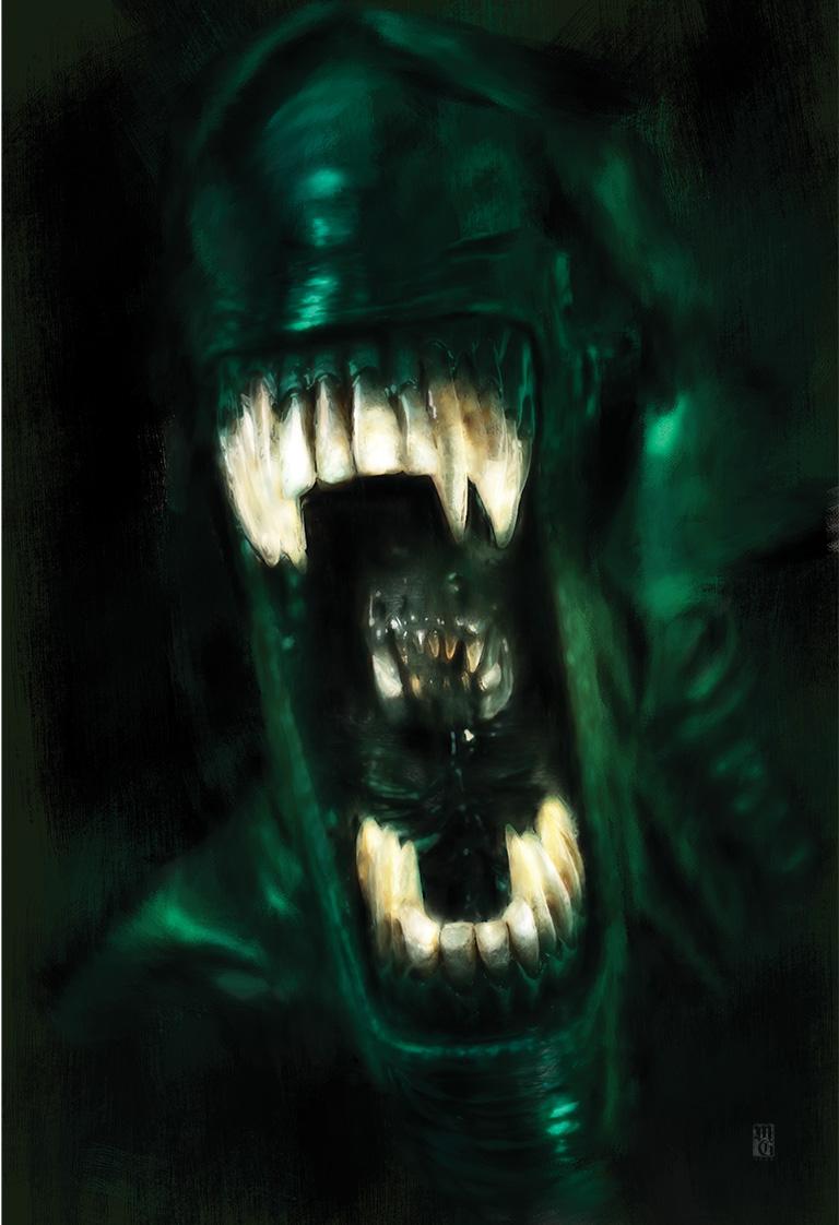 Illustration of the Alien Queen from Aliens