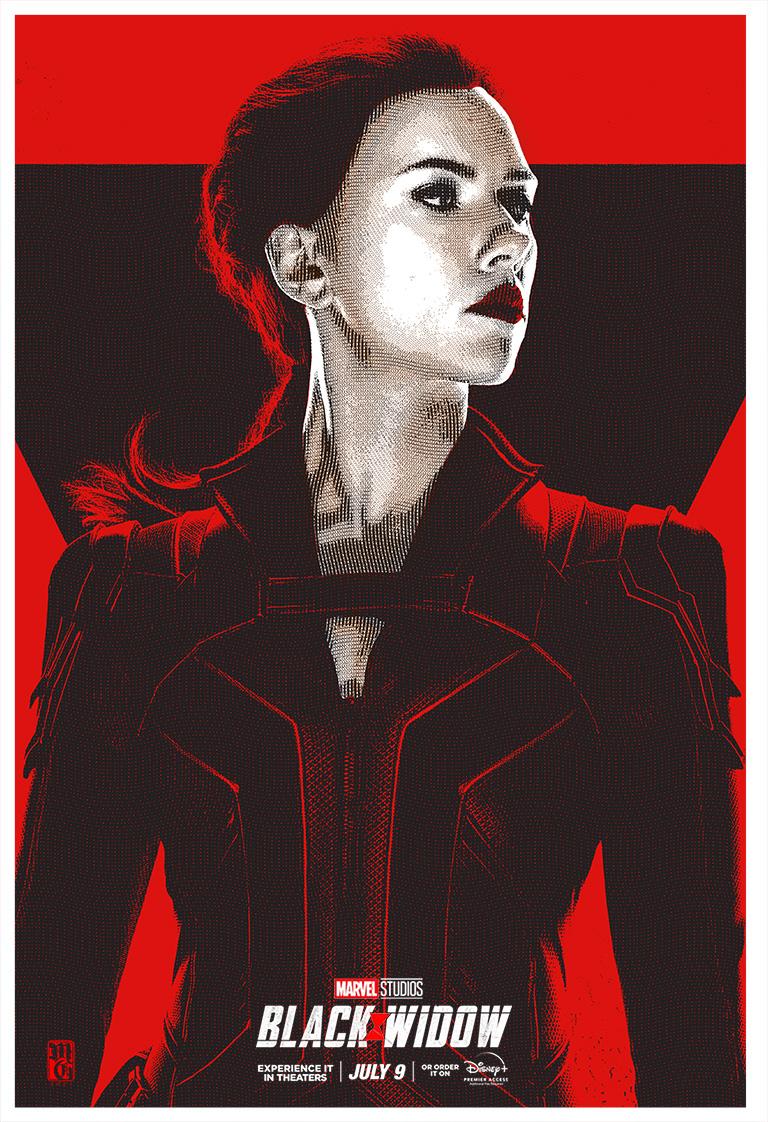 Black Widow illustration alternative movie poster