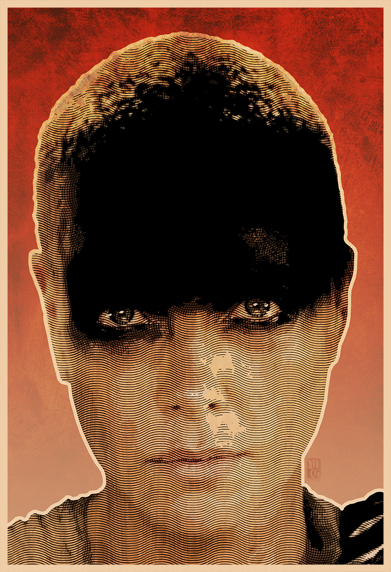 Portrait of Charlize Theron as Furiosa
