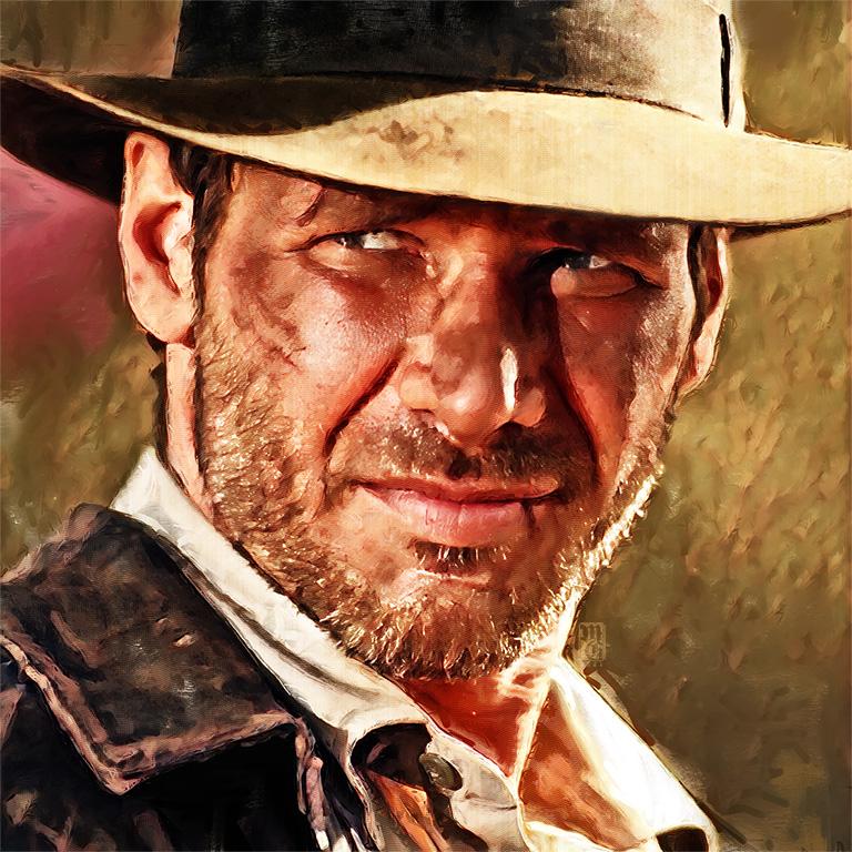 Portrait of Harrison Ford as Indiana Jones