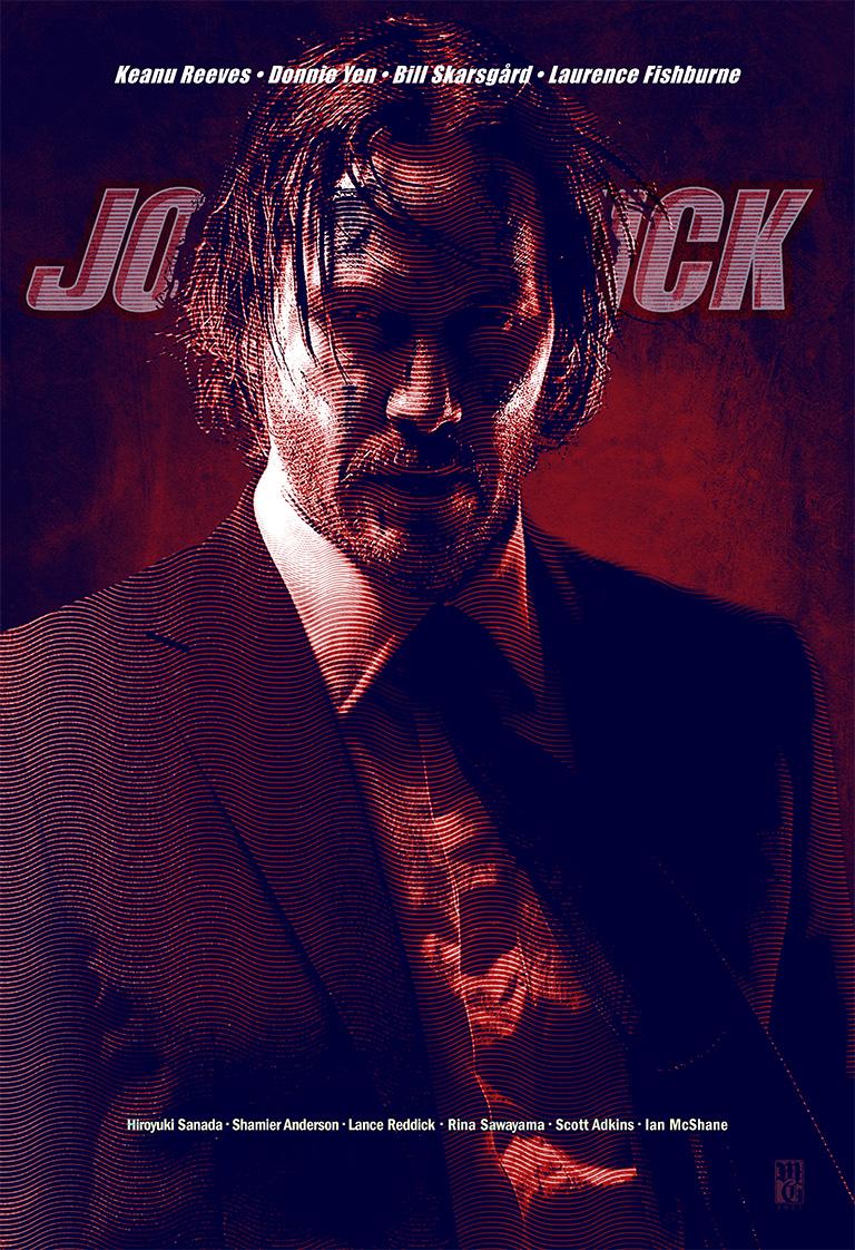 Alternative movie poster concept for John Wick 4