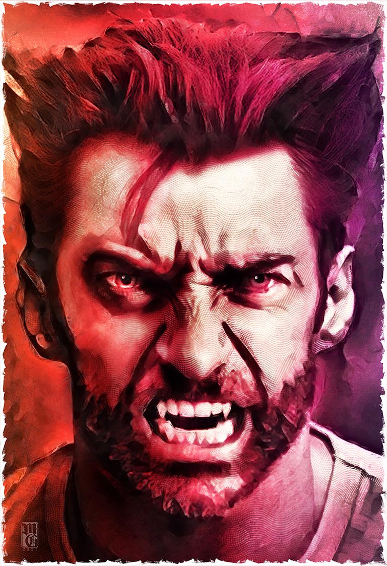 Portrait of Hugh Jackman as Wolverine