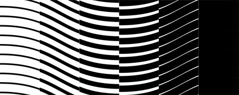 Wavy intaglio pattern