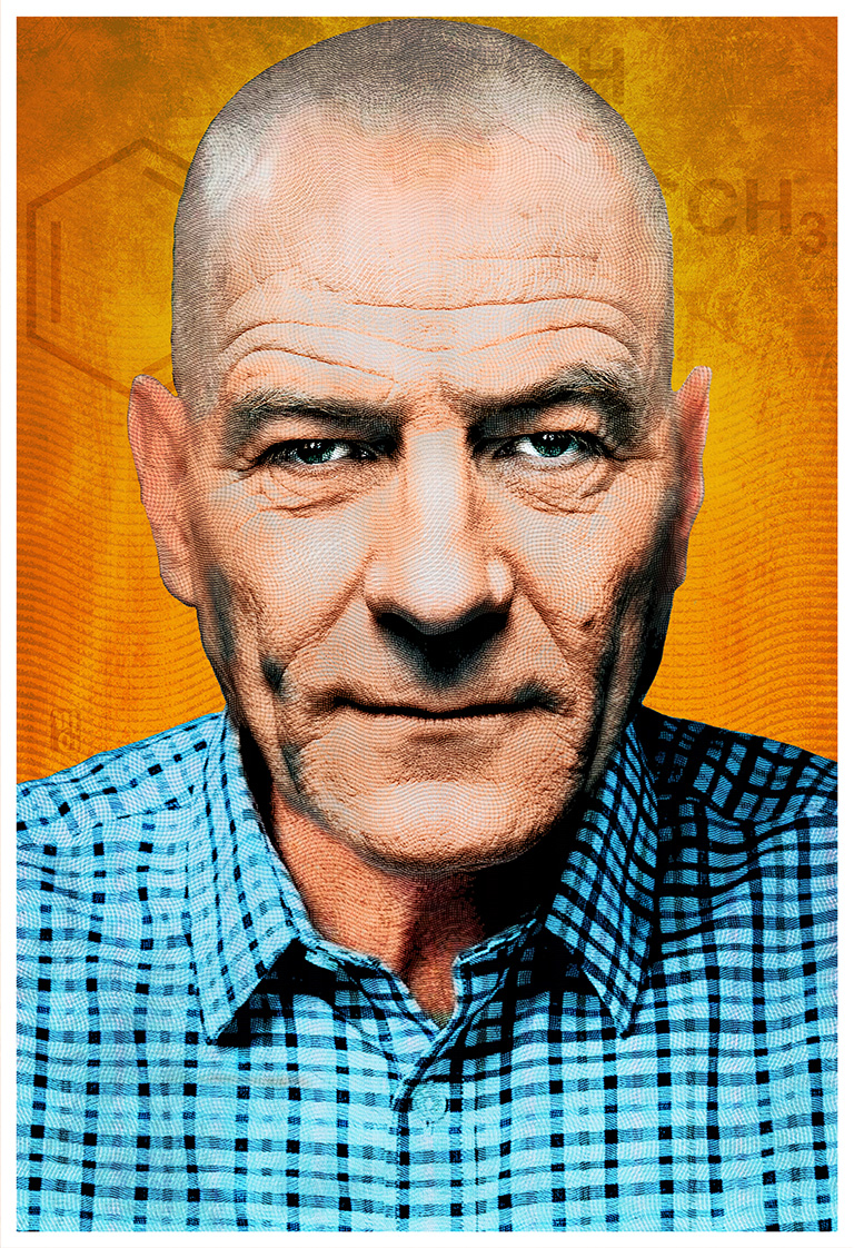 """Portrait of Bryan Cranston as Walter White from """"Breaking Bad"""""""