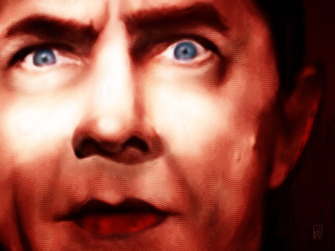 Detail of portrait of Bela Lugosi as Count Dracula