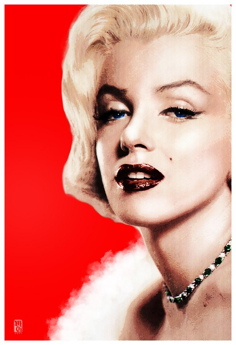 Portrait of Marilyn Monroe (nee Norma Jean Baker)