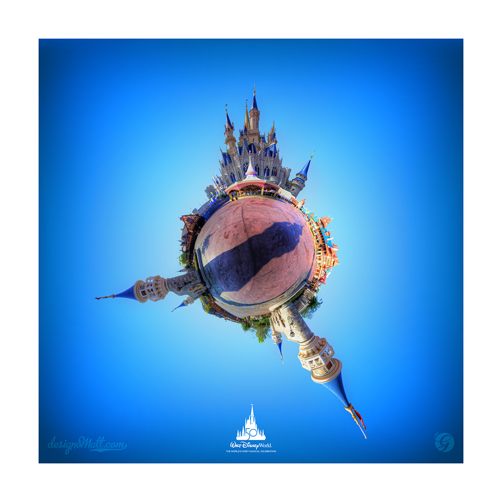 Cinderella Castle tiny planet
