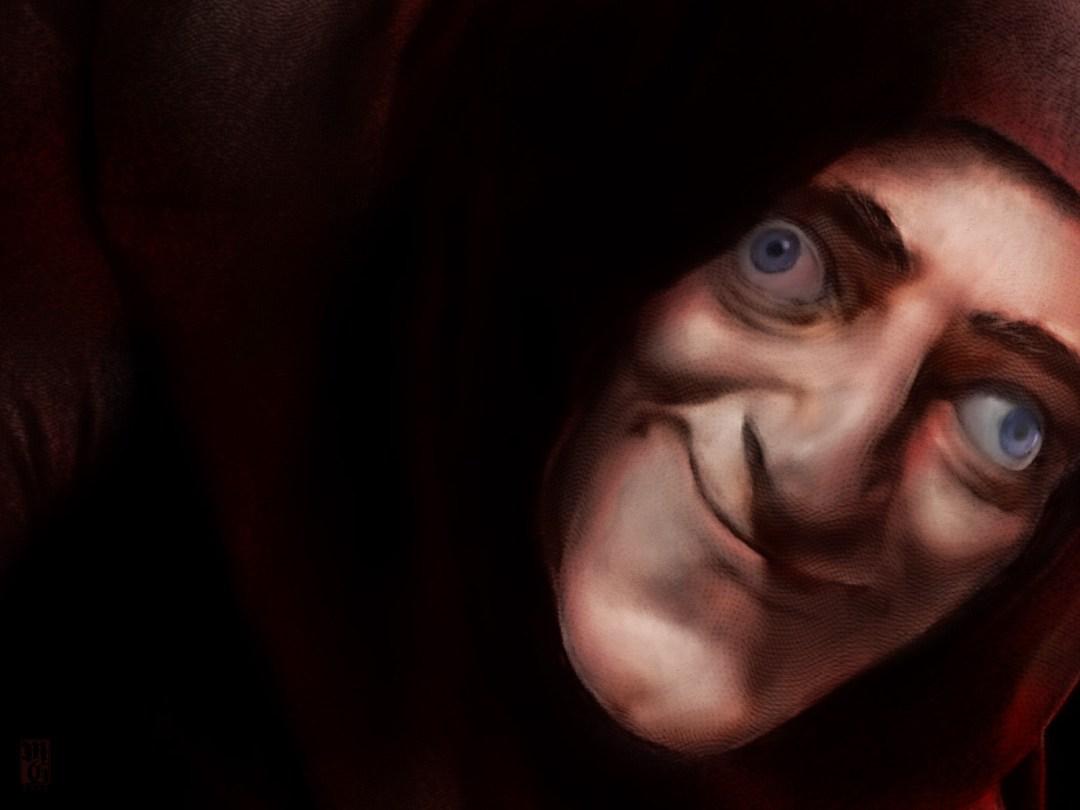 Detail of portrait of Marty Feldman as Igor