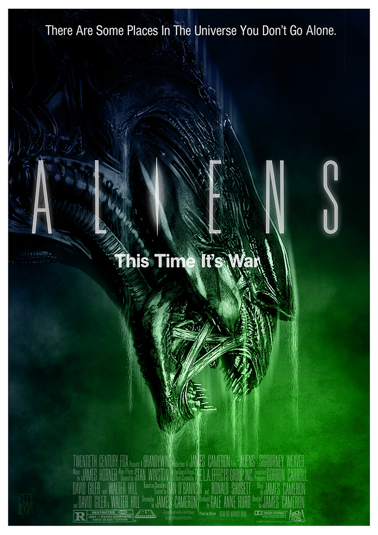"""Aliens"" alternative movie poster for the #TerrorTwos collaborative"