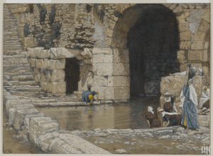 The Blind Man Washes in the Pool of Siloam by James Tissot. Courtesy of the Brooklyn Museum.