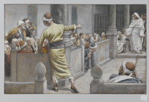 The Healed Blind Man Tells His Story to the Jews by James Tissot. Courtesy of the Brooklyn Museum.