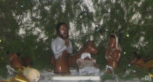 From the Nativity Scene at St Ignatius Parish, Chikuni, Zambia.