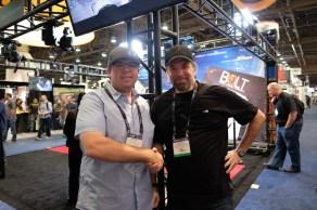 Matthew Duclos and fellow lens technician Jorge Diaz-Amador of Cinema Technic.