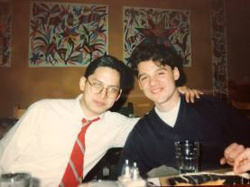 With pianist & friend, Marcel Talangbyan (NYC, 1994).