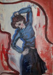 when you danced, i could have died happy oil on canvas £250