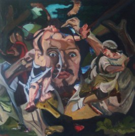 Cannibalising Courbet Oil on canvas £500