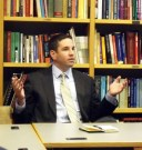 Speaking at the Carr Center at Harvard University in November 2010. Yeah, that fish I caught was that big...