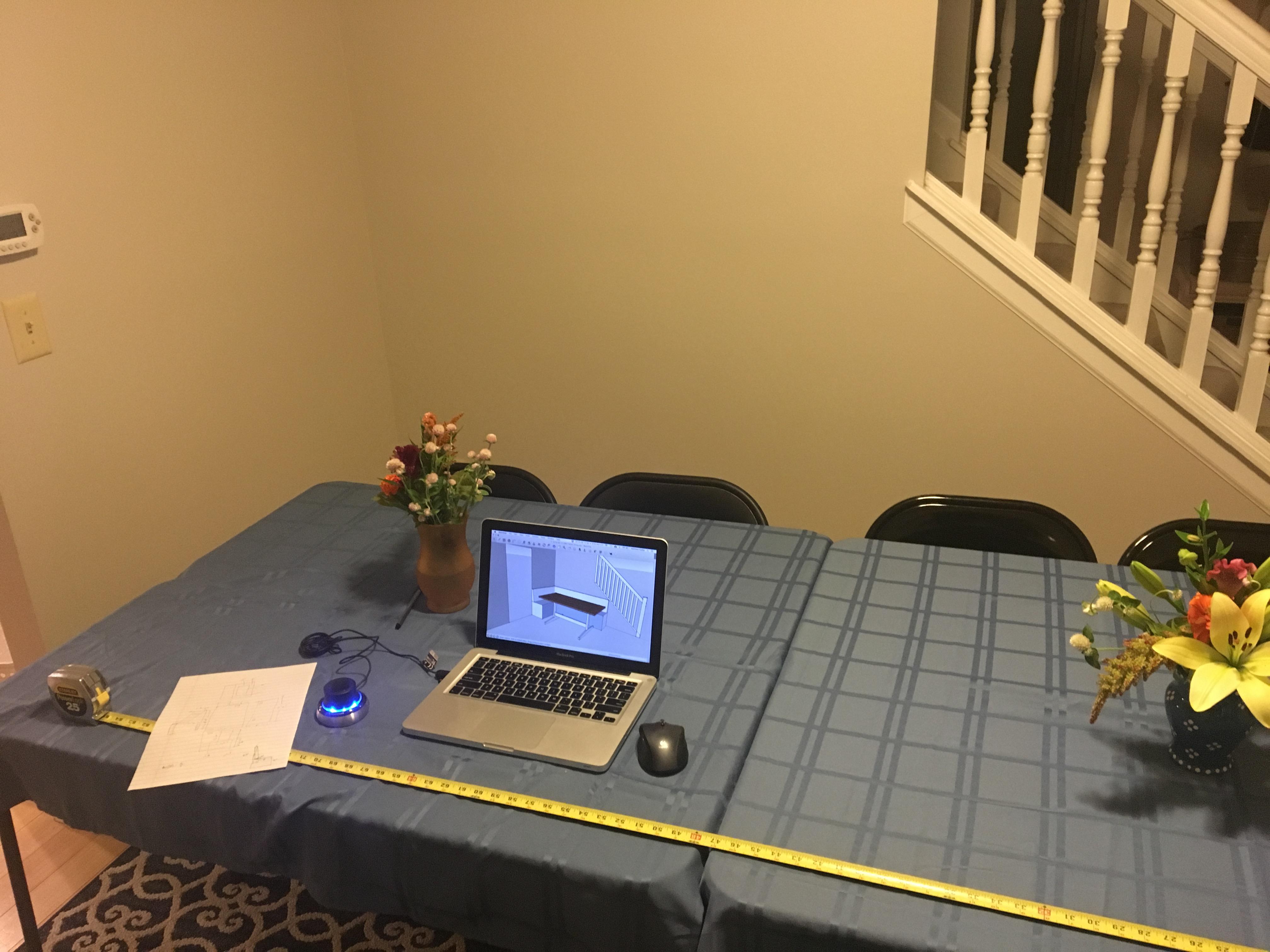 build log dining table matthew kudija