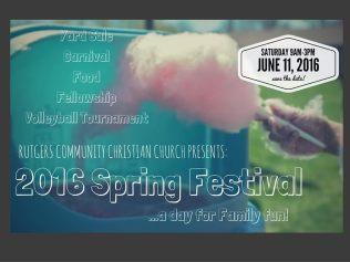 Church Spring Festival Announcement